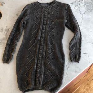Paper crane sweater dress